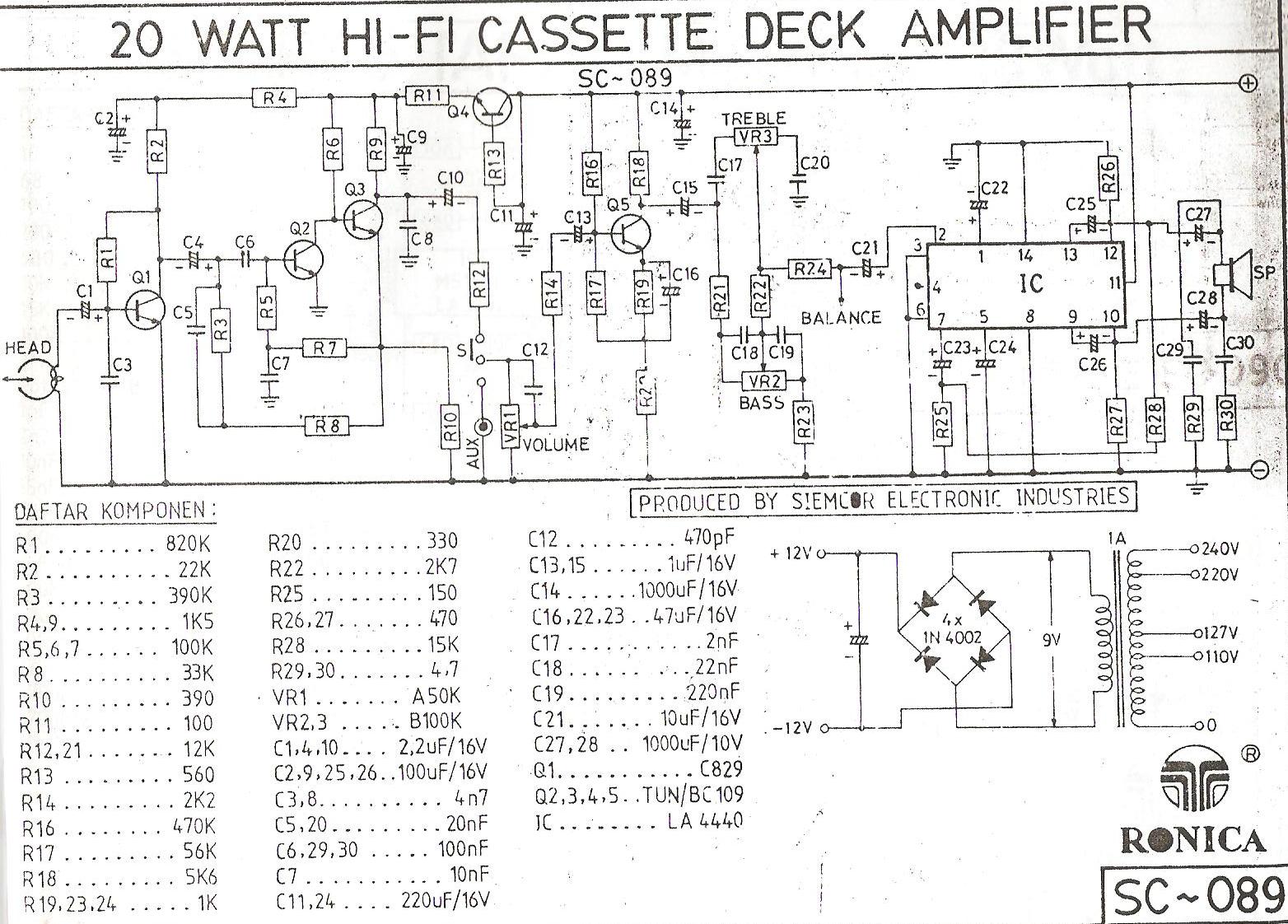 prinsip kerja dan contoh bagian rangkaian elektronika