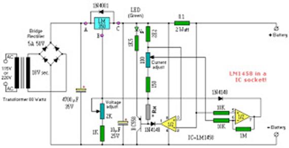 rangkaian charger accu moto